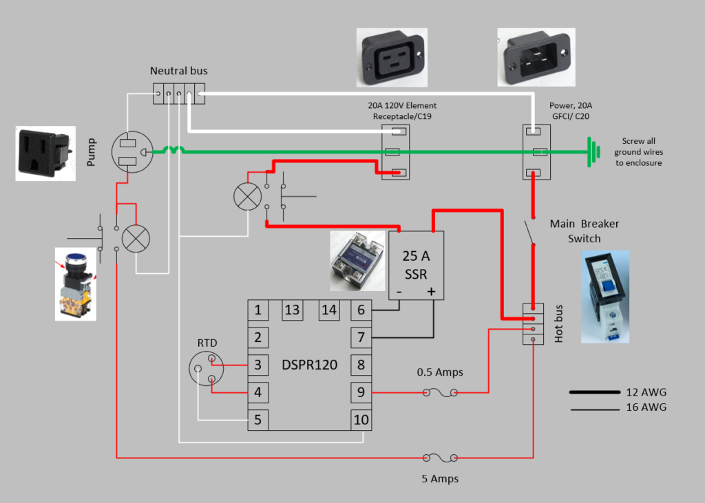 Electric brewing controller schematic