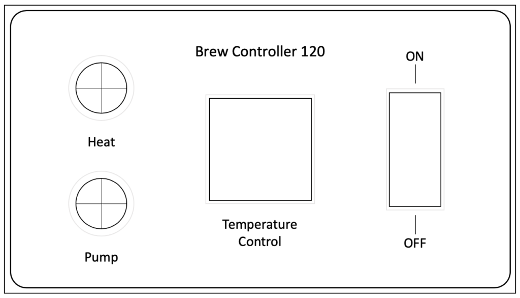 Electric brewing controller front panel drawing