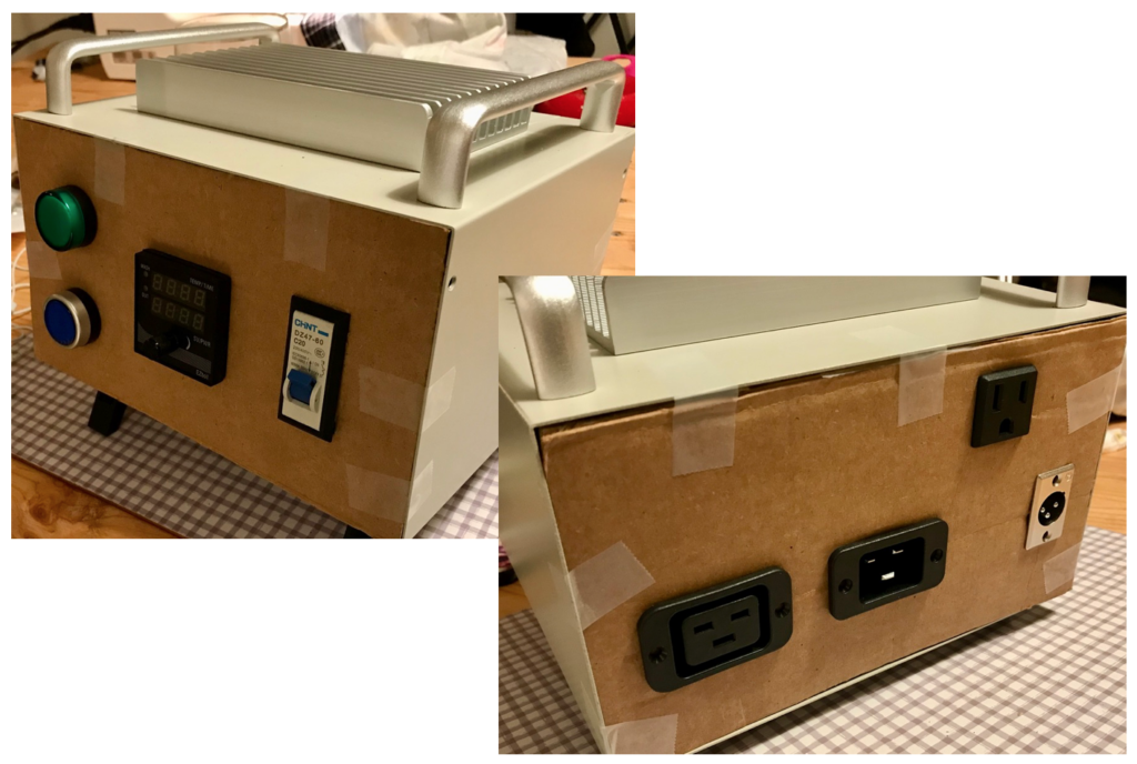 Electric brewing controller cardboard mock up